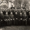 Bild aus der Gründerzeit ca. 1930 mit Präses Voss