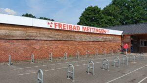 Unser Ziel, das Freibad in Mettingen